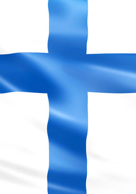Lyxtelegram: Finlands flagga